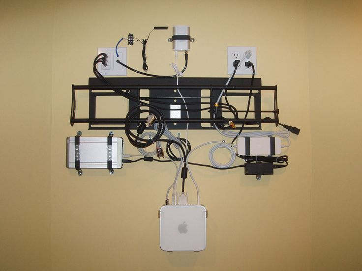 Tv wall mounted power google search house ideas for Tv wall setup ideas