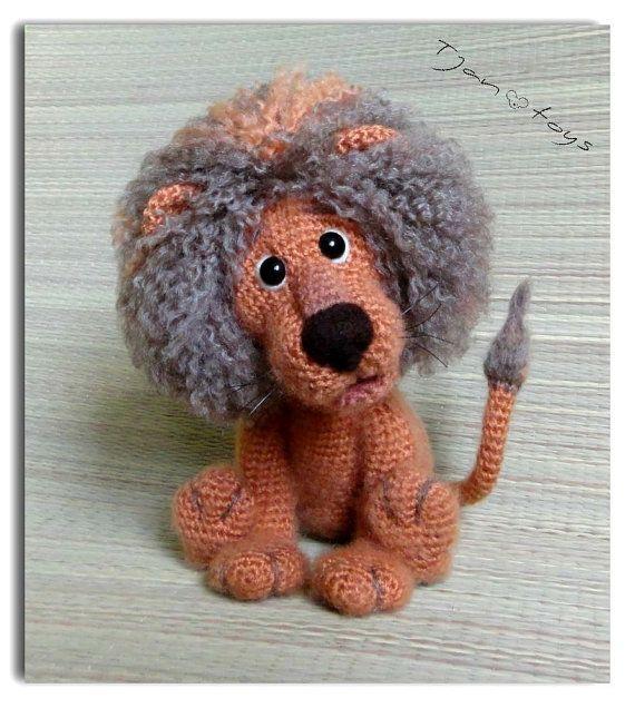 Lion OOAK Stuffed Animals Crochet Handmade Soft toy decor