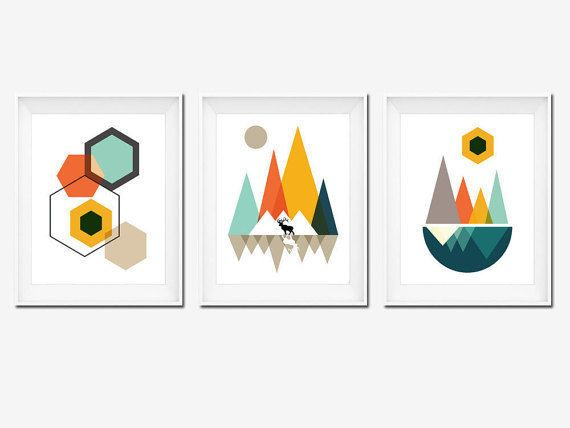 Best Seller Printable Art Mountains Art Geometric by OhFinale