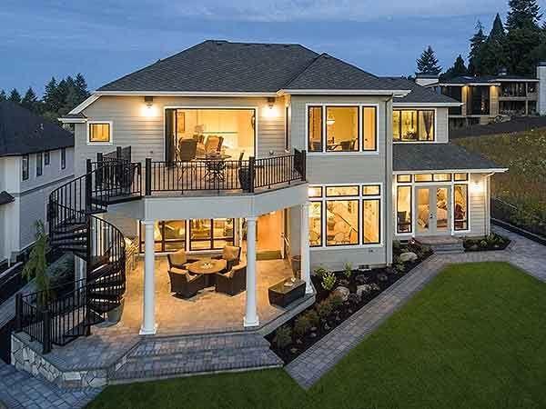Luxury House Plan 69598AM hat eine Rückseite für…