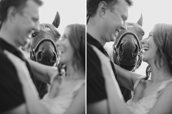 engagement photo idea with horse. I LOVE the horses expression! Totally for Carrin :P