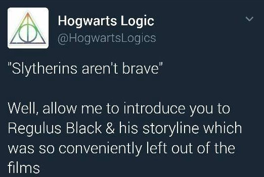 Regulus should have been included! He's THE WHOLE REASON Kreacher became loyal to Harry! He's the reason Kreacher led the house elves into battle with kitchen knives. He matters!