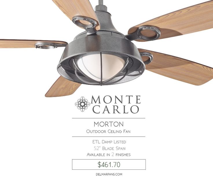 Mejores 145 imgenes de outdoor ceiling fans en pinterest the morton ceiling fan by monte carlo influenced by nautical shapes the morton fan has blades in a driftwood finish and is damp rated for any outdoor aloadofball Choice Image