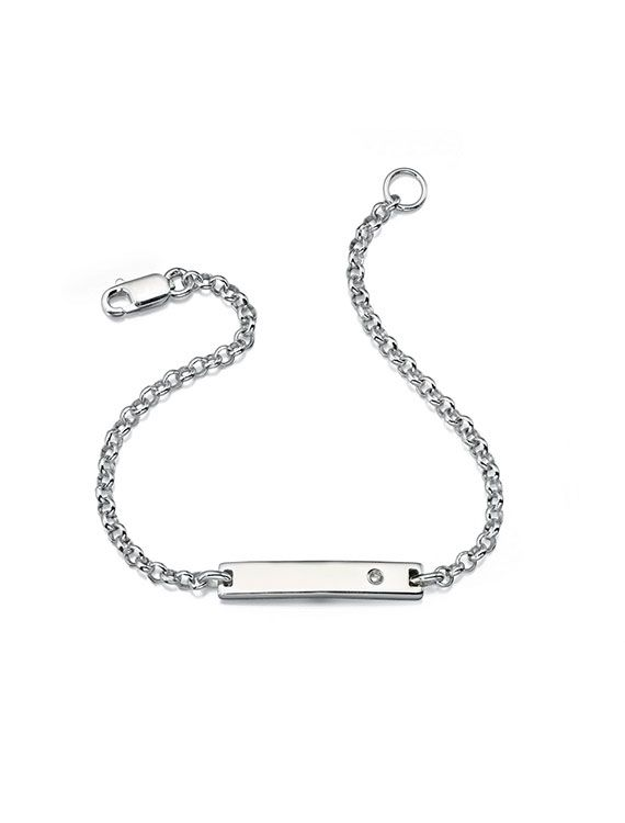 D for Diamond Child's Diamond ID Bracelet