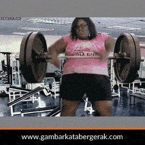 Gambar animasi bergerak lucu tentang olahraga di gym/fitnes lucu :D