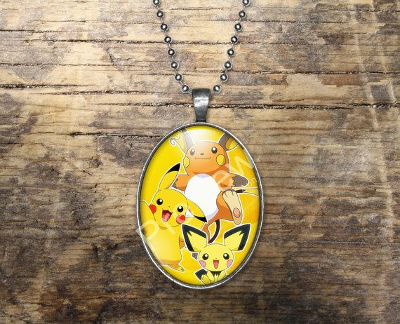 Pichu Pikachu Raichu Pokemon Evolution Pendant by PokemonyByAnn