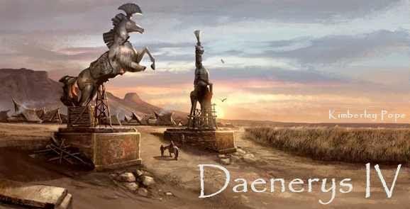 AGOT Daenerys IV banner - The Horse Gate of Vaes Dothrak by Kimberley Pope