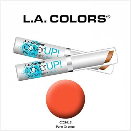 2 Pack LA Colors Cosmetics Cover Up Pro Concealer Stick 615 Pure Orange ** Visit the image link more details.