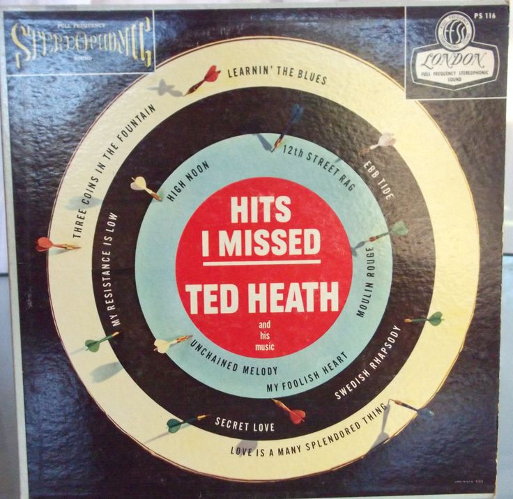 Ted Heath, Hits I Missed, Vintage Record Album, Vinyl LP, British Bandleader, Popular Music, Moulin Rouge, High Noon, Ebb Tibe by VintageCoolRecords on Etsy