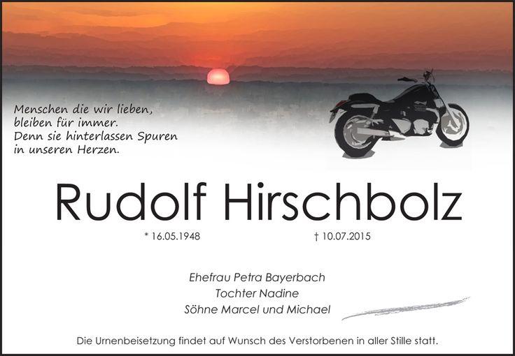 Traueranzeige Motiv Motorrad