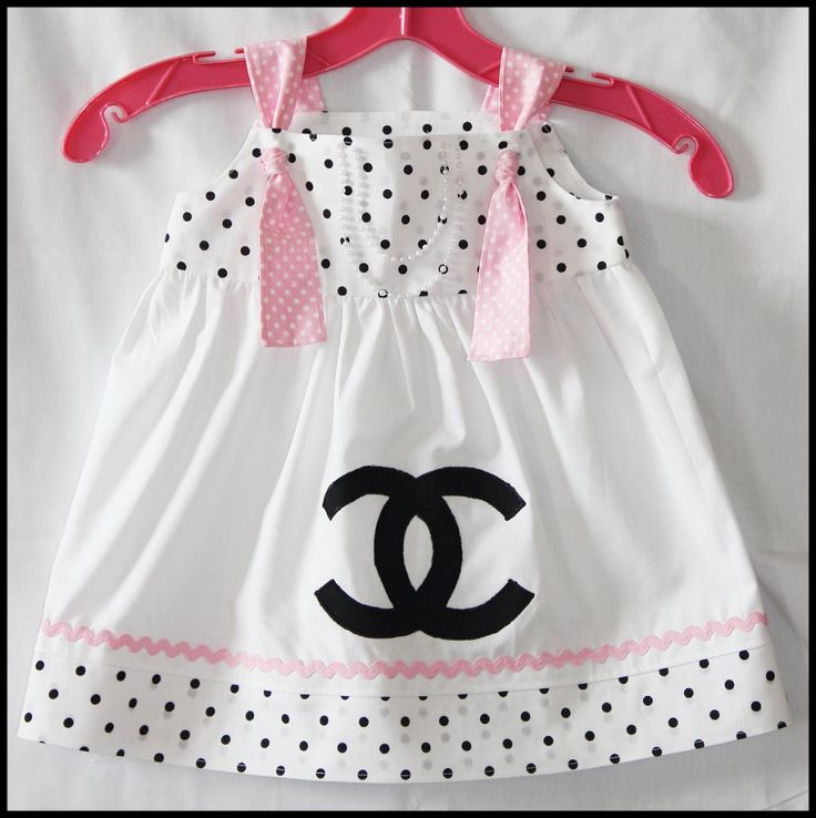 Coco chanel inspired knot dress baby clothes pinterest