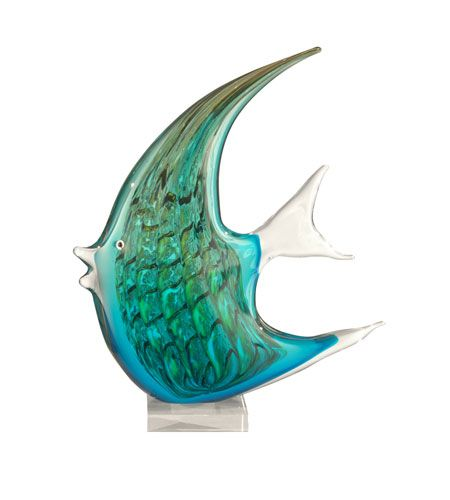 Dale Tiffany Art Glass Angel Fish Figurine AS11107