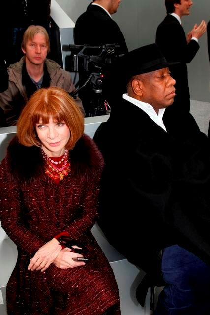 Anna Wintour and Andre Leon we look like spoiled children, but we really do respect one another!
