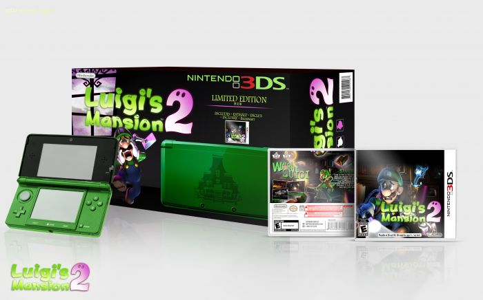 Luigis Mansion 2 3DS Bundle Nintendo 3DS Box Art Cover by Martiniii332 >> of course the '2' should be replaced by 'Dark Moon'. other than that, this looks great