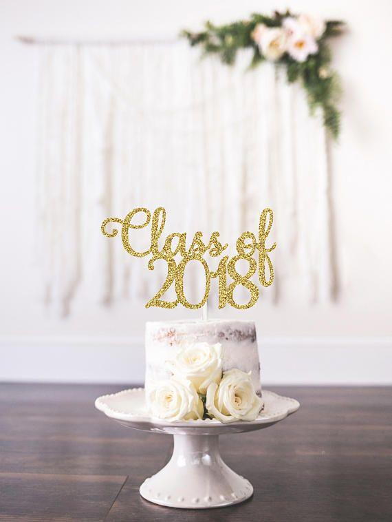 Class Of 2020 Cake Topper 2020 Glitter Cake Topper Choose Any