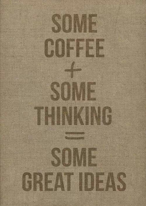 Studies made have exhibited  results that have showed a correlation between current caffeine intake and better performance...... get another pot on guys, engage brainstorming session and GO! #coffeemakesyousmarter #coffee #workhard #lovewhatyoudo #teamwork