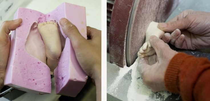 Baby Hands and Feet Life Casting in the Making with Wrightson and Platt