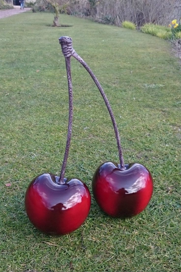 These Double Cherry Garden Ornaments Have A Rich Cherry Color. The Effect  Is Striking And