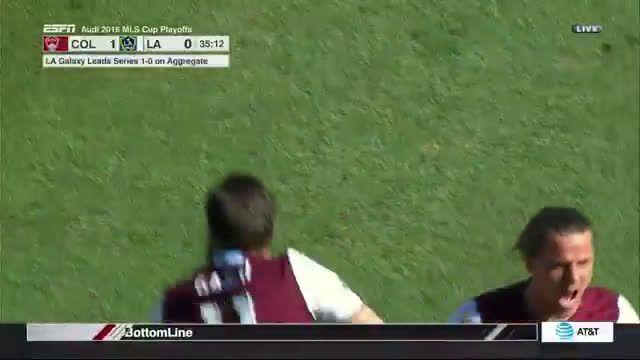Shkelzen Gashi incredible goal for Colorado Rapids vs. LA Galaxy (1-1 Agg.)