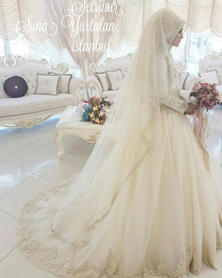 ... Brides on Pinterest  Wedding Hijab, Bridal Hijab and Hijab Bride