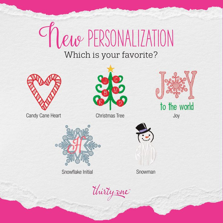 Thirty-One Gifts Holiday Personalization