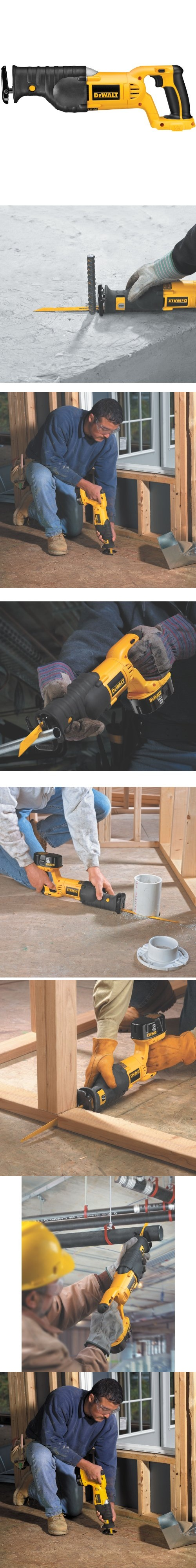 DEWALT Bare-Tool DC385B  18-Volt Cordless Reciprocating Saw - The DeWalt DC385 is a 18V heavy-duty cordless reciprocating saw. The 18v cordless reciprocating saw provides 1 stroke length and 2900 SPM for fast cutting. Its keyless blade clamp allows for changing ... - Reciprocating Saws - Tools  Hardware - Too low to display