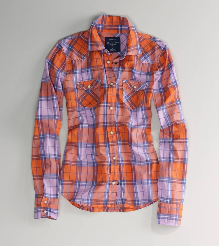 Aeo lace up neck tank western shirts plaid and westerns for Country girl flannel shirts