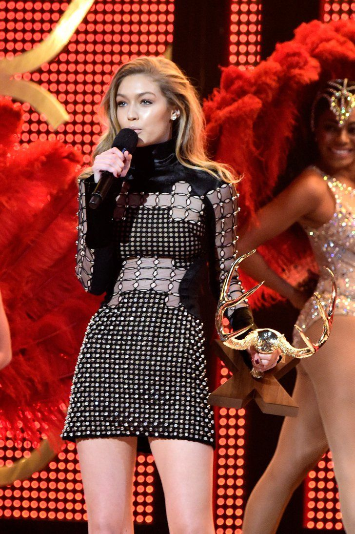 Pin for Later: 16 Very Important Highlights From This Year's Guys Choice Awards Gigi Hadid Accepted the Our New Girlfriend Award Maybe because she's not Zayn Malik's girlfriend anymore?