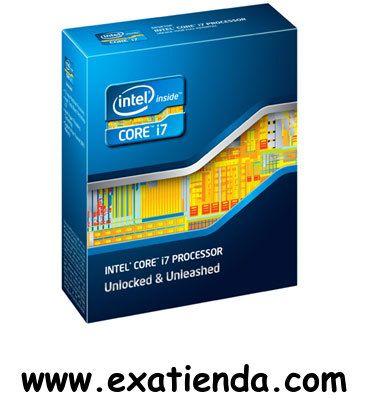 Ya disponible Cpu Intel s 2011 core i7   (por sólo 655.89 € IVA incluído):   -Socket soportado: LGA2011 -Cache: 12MB -Conjunto de instrucciones: 64-bit -Velocidad de Reloj: 3,20 GHz (max.3.8GHz) -Bus del Sistema: 5 GT/s -Arquitectura: 32nm -Intel Graphics:(no especificado por el fabricante) -Formato: BOX SIN VENTILADOR Garantía de 24 meses.  http://www.exabyteinformatica.com/tienda/833-cpu-intel-s-2011-core-i7-3930k-3-2ghz-box #intel #exabyteinformatica