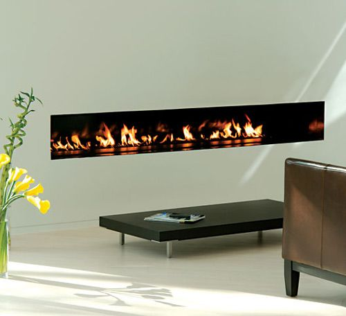 17 best images about favorites fireplaces on pinterest for Long modern fireplace