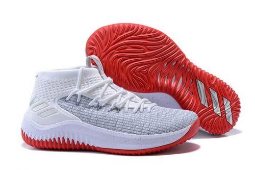 huge discount b8e1d fa2cd Genuine adidas Dame 4 Rose City Cloud White Grey Scarlet - Mysecretshoes