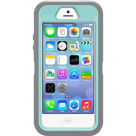 iPhone 5S Case   Defender Series case by OtterBox - I think you have to choose the colors for this one, it's the lighter blue inside and grey outside :)