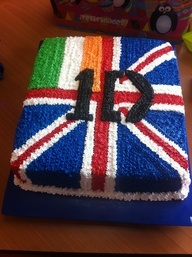 one direction cake ideas - Google Search      i wish that they would've made the irish flag bigger