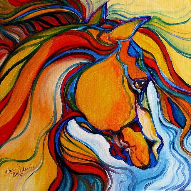 Art: SOUTHWEST ABSTRACT HORSE by Artist Marcia Baldwin