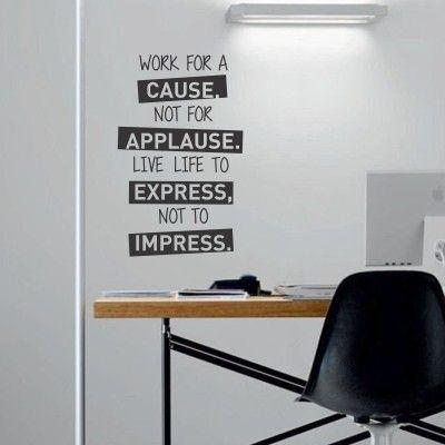 """Adesivo Murale - Work For A Cause.  Adesivo murale di alta qualità con pellicola opaca di facile installazione. Lo sticker si può applicare su qualsiasi superficie liscia: muro, vetro, legno e plastica.  L'adesivo murale """"Work For A Cause"""" è ideale per decorare il soggiorno e l'ufficio. Adesivi Murali."""