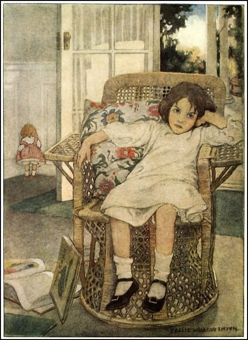Oh, dear!  Dolly had to be sent to the corner! Jessie Wilcox Smith