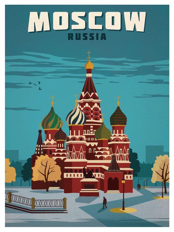 moscow vintage poster - Google zoeken