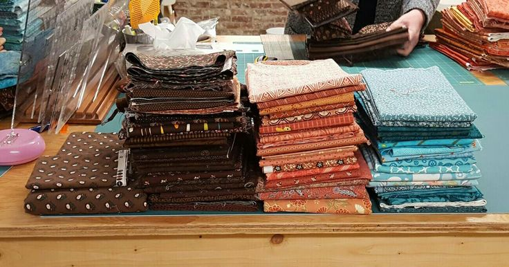 """My fabrics for the 2017 Quiltville Mystery Quilt, """"On Ringo Lake """""""