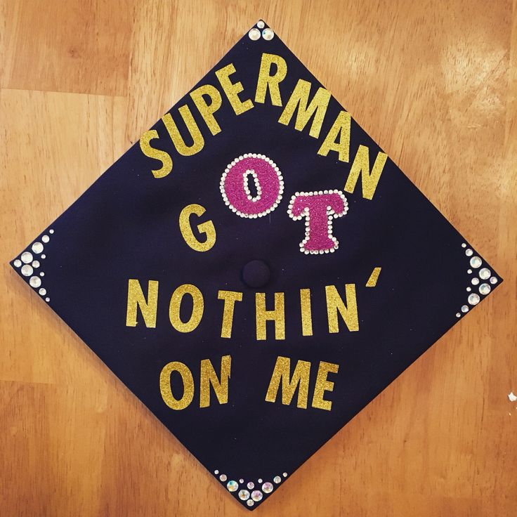 Charlie Puth inspired graduation cap for occupational therapy