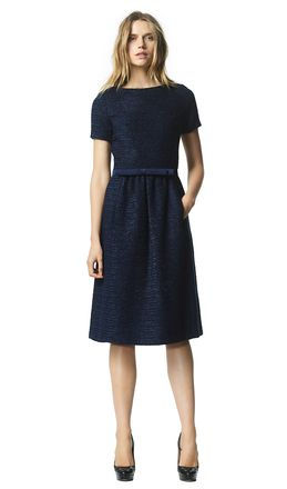 Audrey - navy - Tweed dress | LaDress