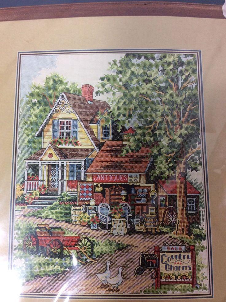 Старинное очарование Вышивка крестом набор Викторианский Загородный фермерский дом Аида цвета слоновой кости запечатанный   ибее