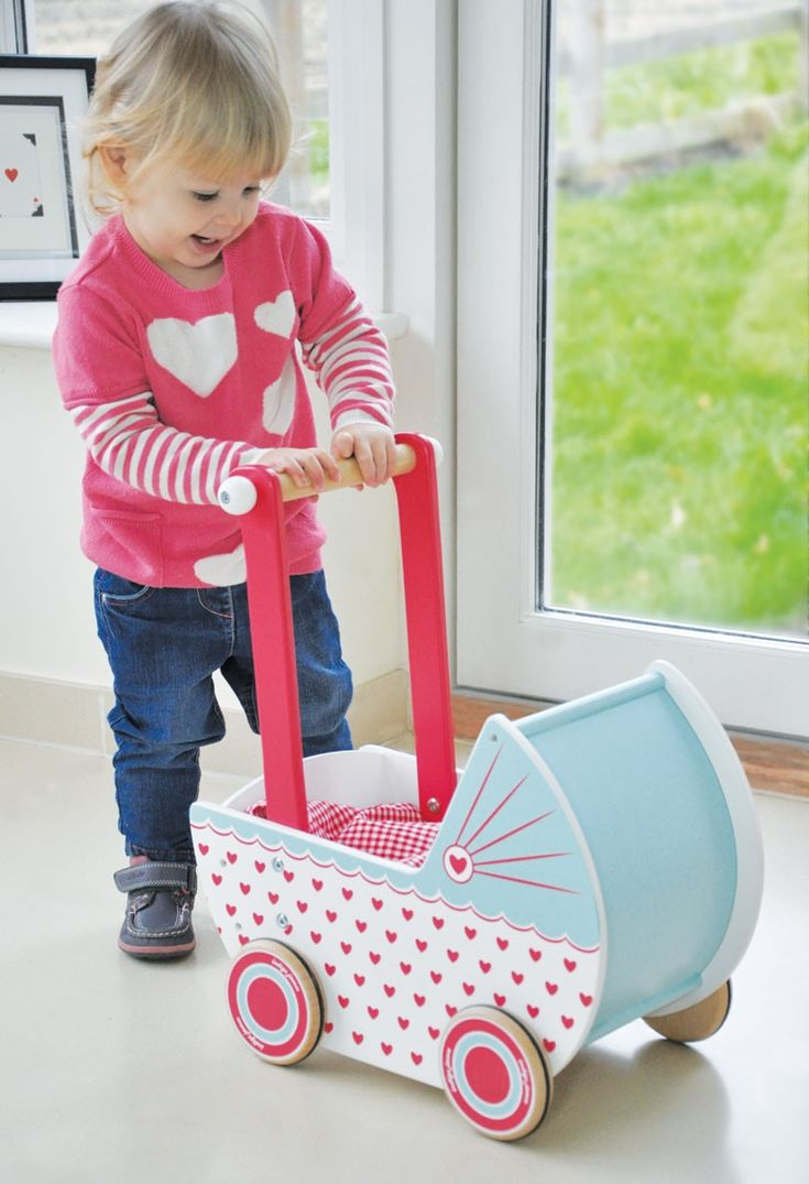 Indigo Jamm - Wooden Pram Hearts - Dolls & Doll Houses - Shop Would love to see our sweet little Amelia pushing this around with her dolly. #EntropyWishList and #PinToWin