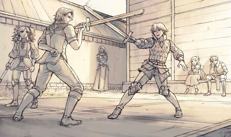 I love this  Leo waiting for his turn Peri not sure who to feel more invested in winning Xander purposely keeping one hand behind his back to give Laslow a handicap or on some sort of bet Laslow casually commenting on Xander's technique being fully aware of the handicap he has been given