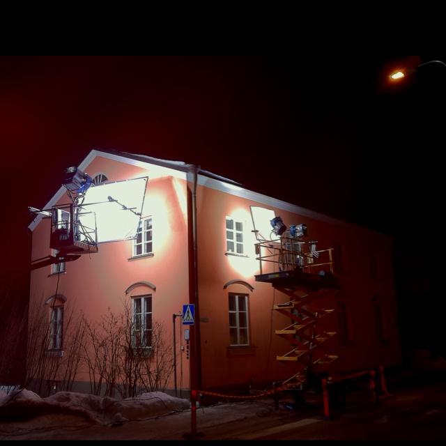 Making movies, Kumpula, Helsinki, Finland.
