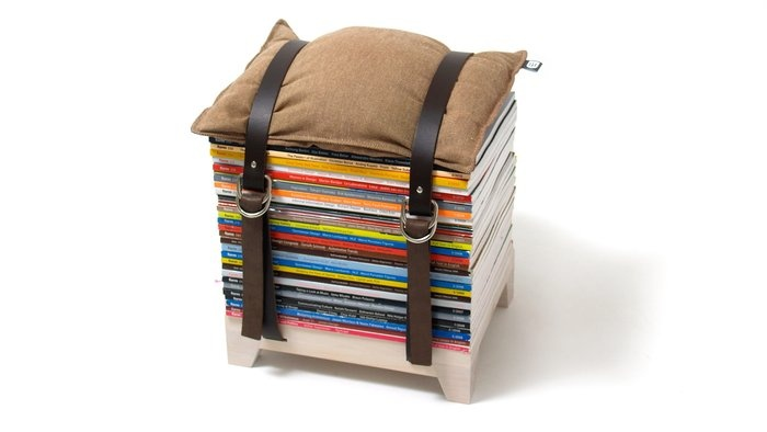Finally a place for my Elle magazines ~ Adjustable Storage Stool