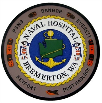 US Navy hospital seal plaque