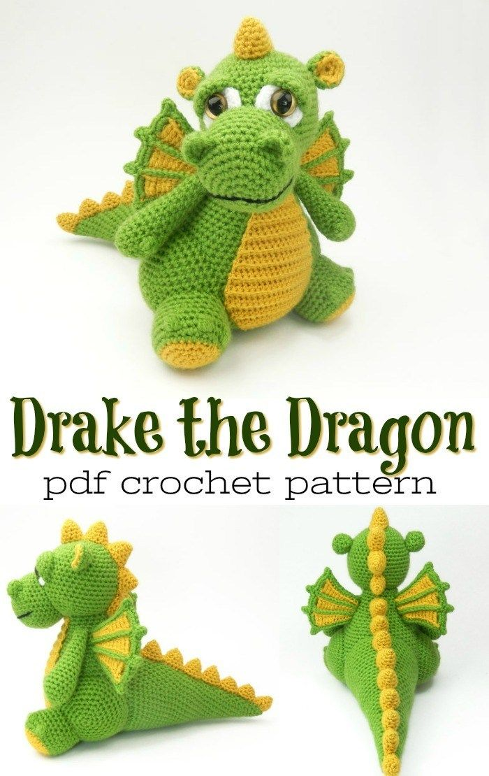 dragon amigurumi, dragon crochet, dragon crochet pattern, dragon ... | 1110x700
