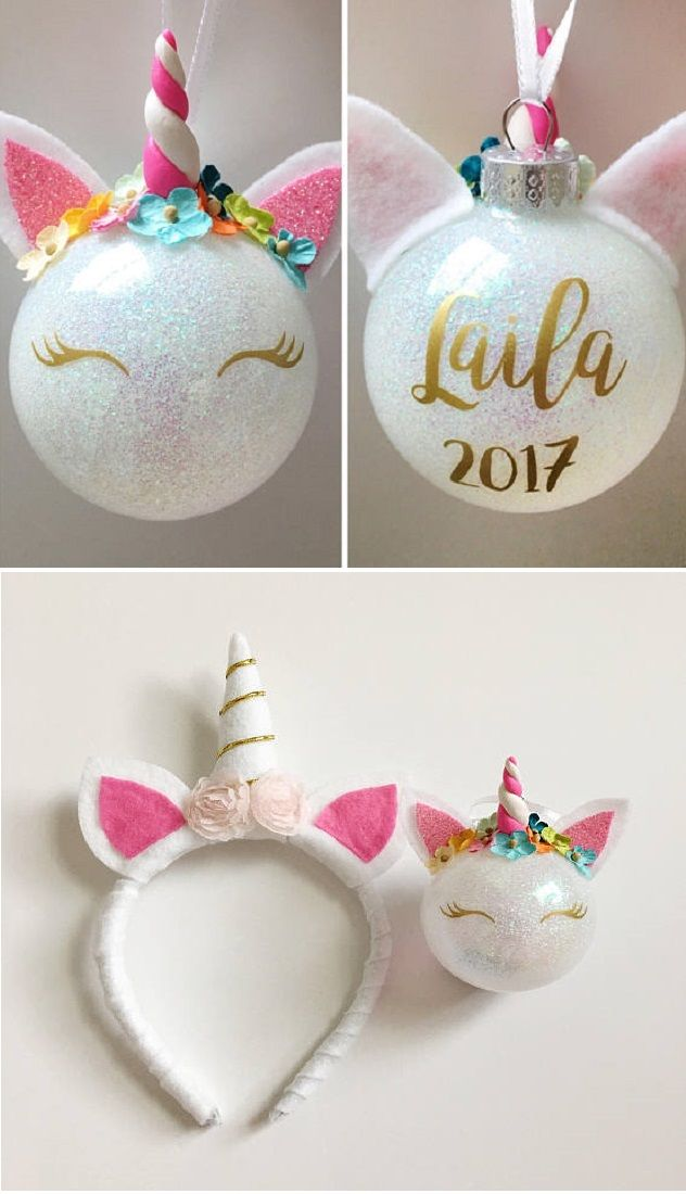 unicorn christmas ornament unicorn ornaments glitter ornaments diy christmas ornaments christmas presents - Unicorn Christmas Decorations