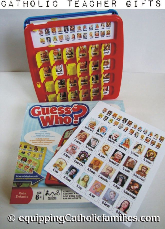 Free Guess Who? game templates: Saints, Cardinals, Popes.