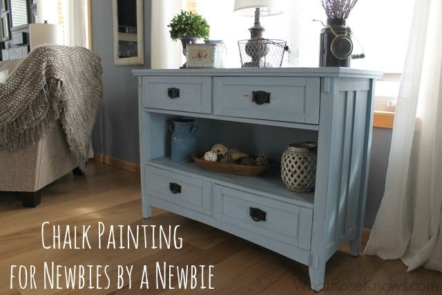 Chalk Painting for Newbies by a Newbie with CeCe Caldwell's Paint! I used Chesapeake Blue and Young Kansas Wheat plus the Clear Wax. DIY chalk painting is very easy to do as you can see in this post!